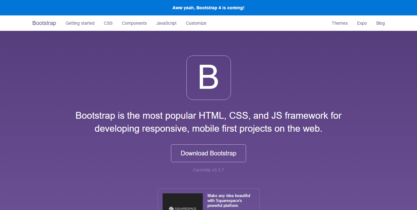 Go get bootstrap for your next web project
