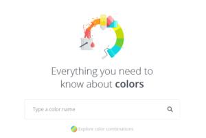 canva colors web site splash screen