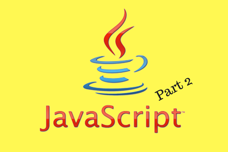 JavaScripT coffee cup logo with 'part 2' indicator