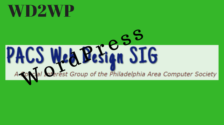 WebDesign logo overlaid with word WordPress